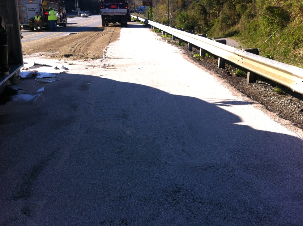 Truck wreck with release of diesel/oil Hazardous Spill Response